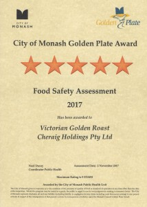 City of Monash Food Safety Assessment Certificate