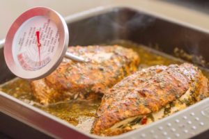 Cooking Thermometer In Chicken