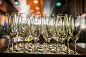Champagne Glasses for Catered Party Melbourne